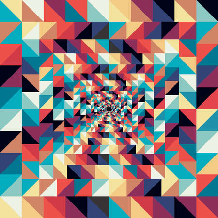 visual effect: Colorful retro visual effect abstract seamless pattern background. Vector file layered for easy editing.
