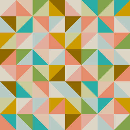 Triangle vintage hipster seamless pattern background. Vector file layered for easy editing. Stock Vector - 21599975