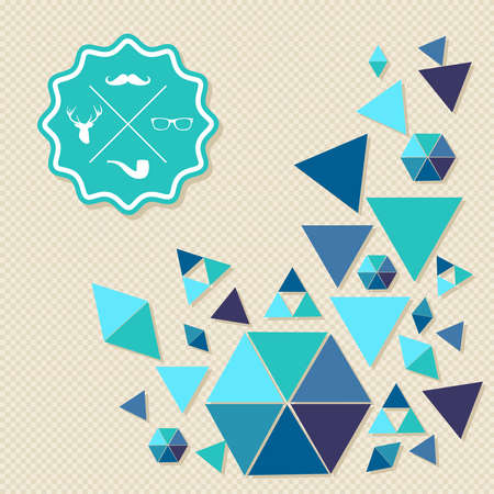 Trendy retro Hipster badge icons triangle composition background. Vector file layered for easy editing. Stock Vector - 21600032