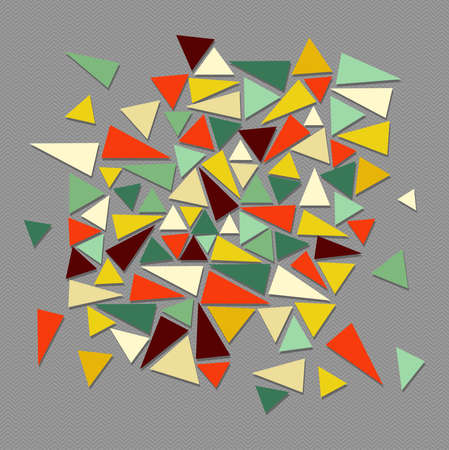 Unusual retro hipsters triangle composition background. Vector file layered for easy editing.  Stock Vector - 21600038