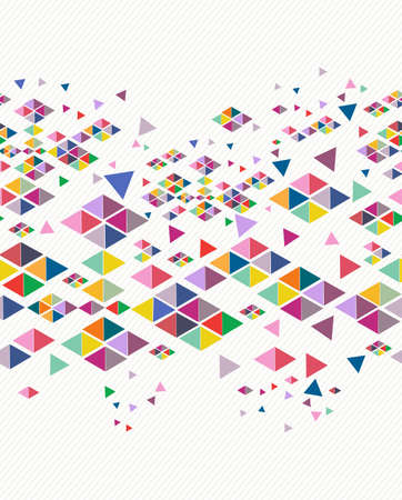 Unusual colorful retro hipsters triangle seamless pattern background. Vector file layered for easy editing.  Stock Vector - 21600039