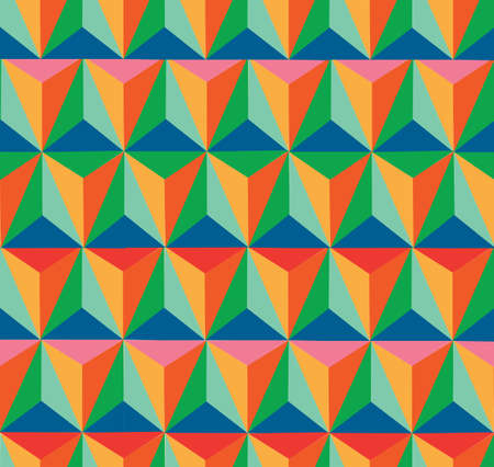 Triangle vintage hipster seamless pattern background. Vector file layered for easy editing. Stock Vector - 21600041