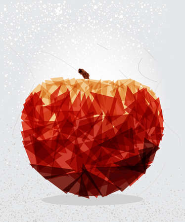 Modern red apple food transparent shapes elements grunge background.  vector with transparency organized in layers for easy editing. Vector