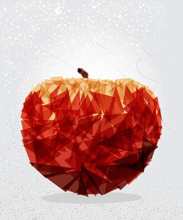 Moderne rode appel eten transparante vormen elementen grunge achtergrond. vector met transparantie georganiseerd in lagen voor eenvoudige bewerking.