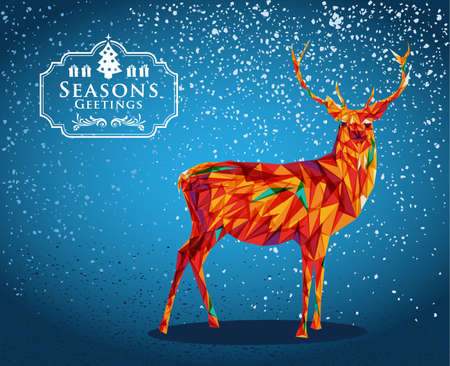 Trendy Christmas reindeer transparent elements blue background. vector with transparency organized in layers for easy editing. Vector