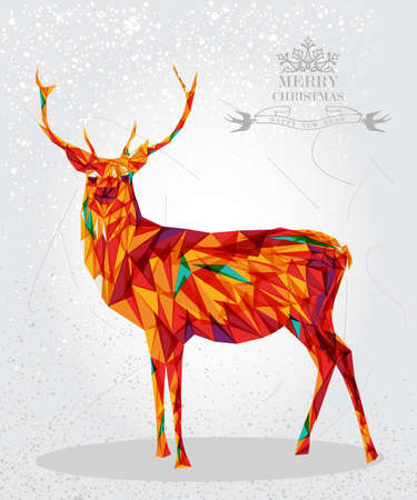 Trendy Christmas colorful reindeer transparent circle elements grunge background. vector with transparency organized in layers for easy editing. Vector