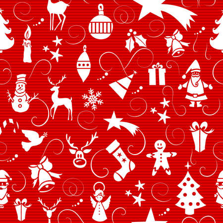 Merry Christmas icons seamless pattern background  Vector layered for easy editing  Stock Vector - 21600250