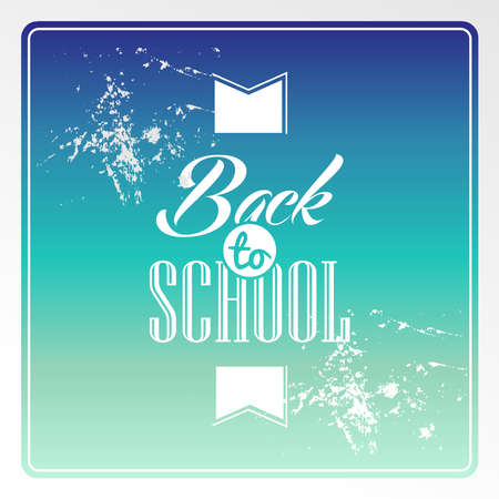 degrade: Colorful degrade vintage back to school text background.