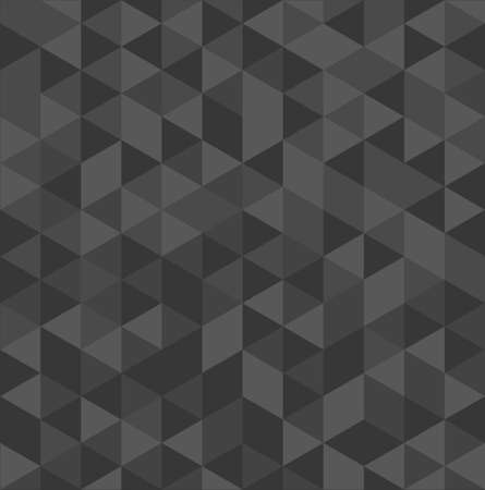 Unusual grey vintage abstract triangle seamless pattern background. Vector file layered for easy editing. Ilustração