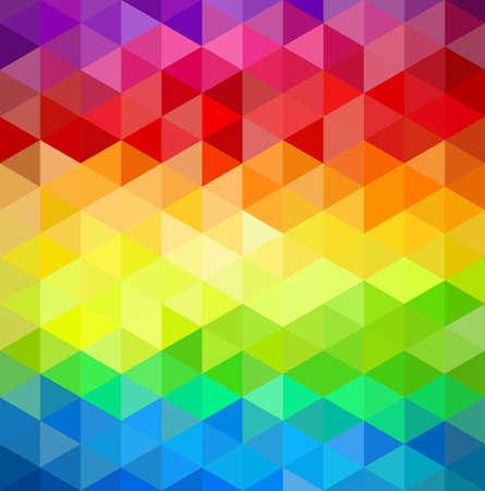 トレンディなカラフルなビンテージ抽象的な三角形のシームレスなパターンの背景。  イラスト・ベクター素材