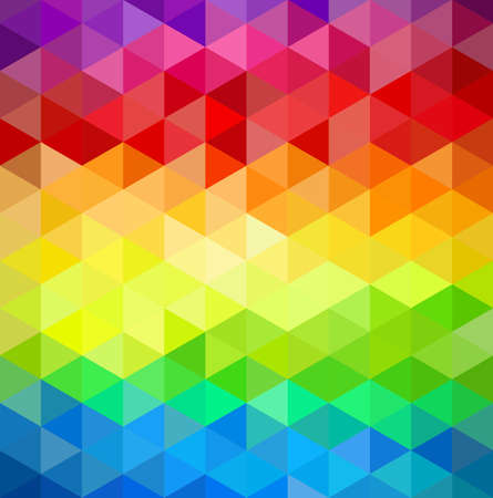 triangle shape: Trendy colorful vintage abstract triangle seamless pattern background.