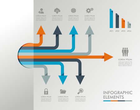 Infografik Design-Vorlage mit grafischen Elementen gesetzt Abbildung. Vector-Datei in Schichten für die einfache Bearbeitung.