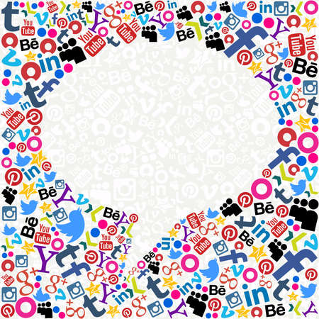 モンテビデオ、ウルグアイ。2013 年 8 月 15 日: ソーシャル メディア バブル 2013年。若いウルグアイ人の約 78 % はソーシャル メディア コントロール、ノース テキサス大学によって行われた研究の一部に問題があります。 写真素材 - 21838497