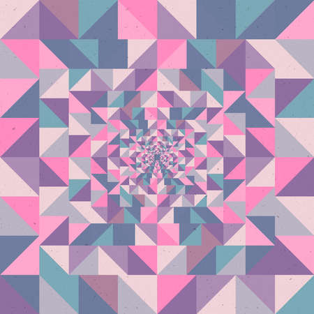 Abstract optic effect colorful triangle seamless pattern background.  Vector