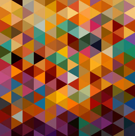 Retro abstract colorful geometric elements seamless pattern background. Vector