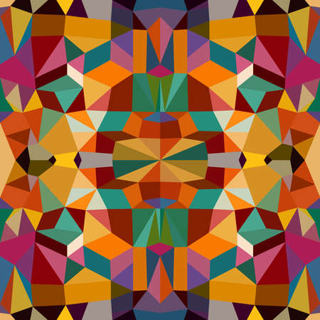 Vintage abstract colorful geometric elements seamless pattern background. Vector