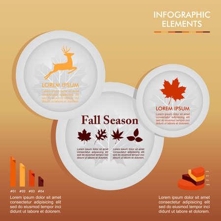 web application: Fall season infographics illustration template    Illustration