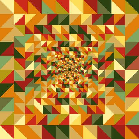 visual effect: Abstract visual effect.  Fall season geometric elements seamless pattern background