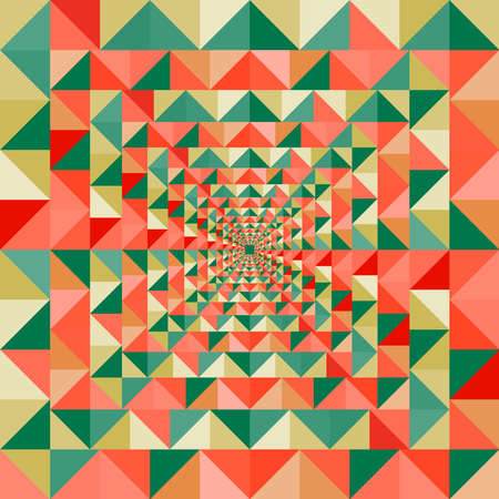 Abstract optic effect colorful triangle seamless pattern background Vector