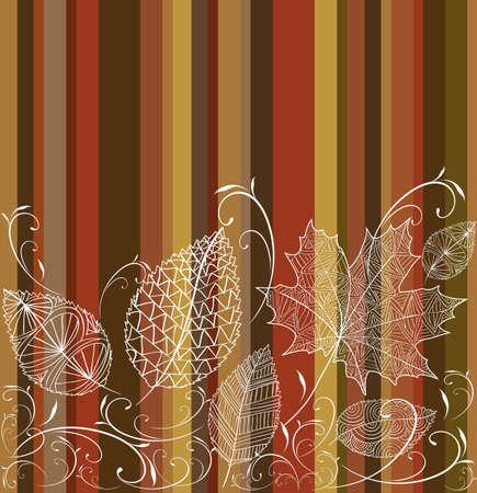 Vintage transparent autumn tree leaves seamless pattern background Vector