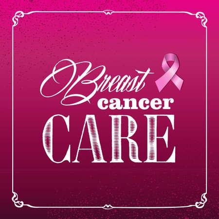 Global collaboration breast cancer awareness vintage banner. Poster with grunge background