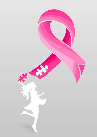Breast Cancer Awareness concetto illustrazione Archivio Fotografico - 22187890
