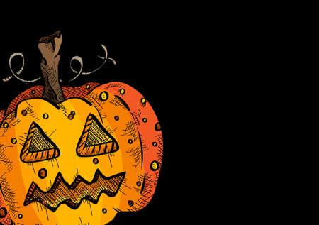 basic candy: Happy Halloween old pumpkin face lantern holiday icon illustration.
