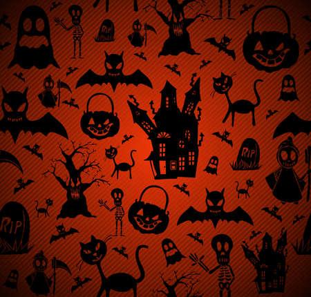 casita de dulces: Elementos del feliz Halloween de fondo transparente.