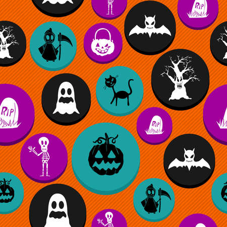 Colorful Halloween elements seamless pattern background.  Stock Vector - 22284425