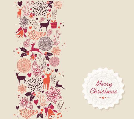 renos de navidad: Añada el texto Feliz Navidad, renos y los elementos de antecedentes círculo. EPS10 archivo vectorial organizado en capas para facilitar la edición. Vectores
