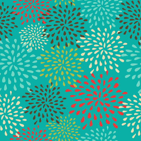 Vintage Christmas elements, abstract snowflakes seamless pattern background. EPS10 vector file organized in layers for easy editing. Vector