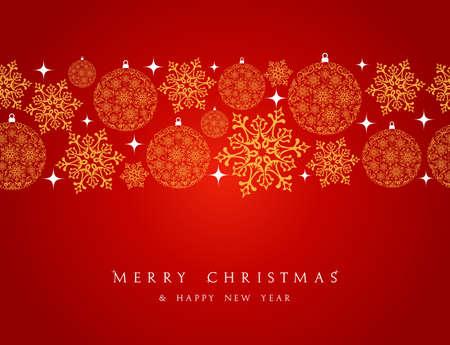 prázdniny: Veselé vánoční ozdoby prvky bezešvé vzor hranice. soubor organizována ve vrstvách pro snadnou editaci. Ilustrace