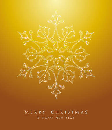 Luxury Merry Christmas snowflakes, season elements and stars background. EPS10 vector file organized in layers for easy editing. Stock Vector - 22951683