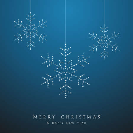 Luxury Christmas decorations ornaments hanging snowflakes postcard background. Vector file organized in layers for easy editing. Vector