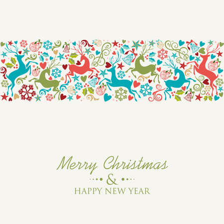 Merry Christmas and Happy New Year greeting card background. Фото со стока - 24078724