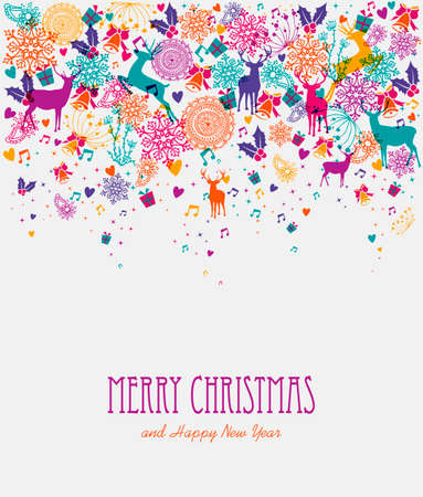 Christmas holiday transparent colors elements background. EPS10 vector file organized in layers for easy editing.