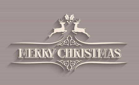 greeting card background: Merry Christmas vintage text greeting card background. EPS10 vector file organized in layers for easy editing. Illustration