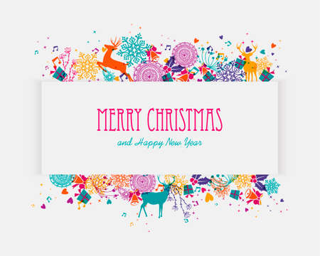 Trendy Christmas holiday colors splash elements banner. EPS10 vector file organized in layers for easy editing.