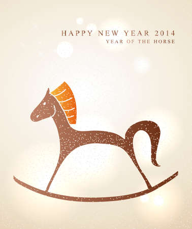 2014 Chinese New Year of the Horse little toy illustration.   Vector