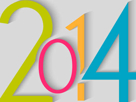 Happy new year 2014 season greeting card design. EPS10 vector file with transparency layers. Vector