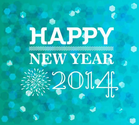 defocus: Happy new year holidays glow defocus lights vintage greeting card design.