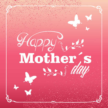 Vintage trend Happy Mothers day typographic background. Vector