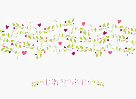 mother day: Happy Mothers day seamless pattern background.