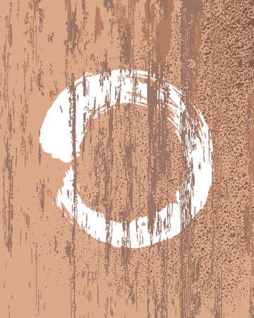 reiki: Zen circle silhouette grunge illustrazione.