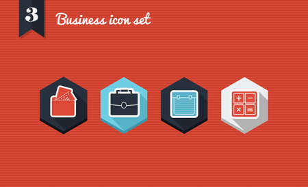 shifting: Set of flat design icons for Business corporation and management. Vector illustration file layered for easy editing. Illustration