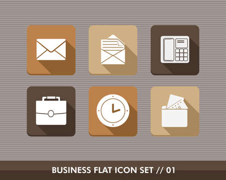 Set of flat design icons for Business and marketing emailing campaign. Vector illustration file layered for easy editing. Vector