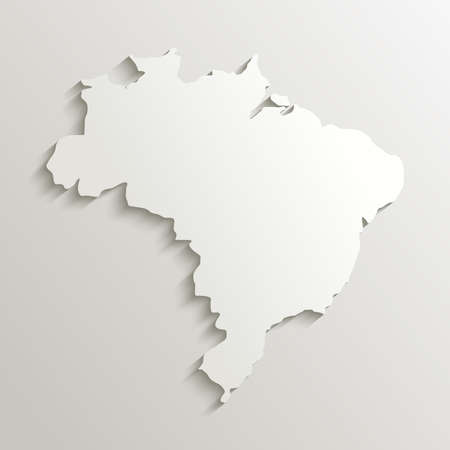 Brazil map silhouette with shadow effect. EPS10 vector with transparency organized in layers for easy editing. Vector