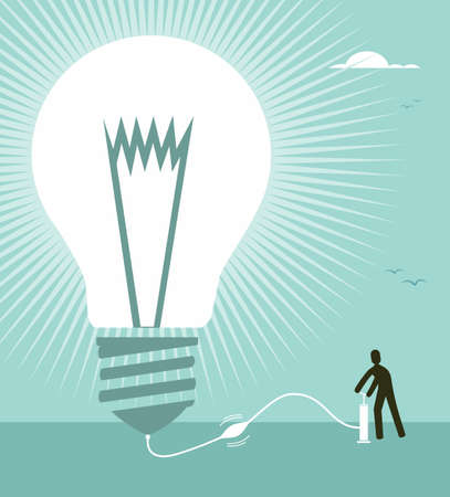 Big idea for business success concept illustration. Vector