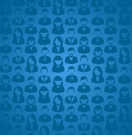 work group: Social media work group concept in blue seamless pattern background. EPS10 vector file with transparency layers.