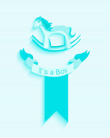 its a boy: Baby shower invitation card design with Its a boy text. EPS10 vector file organized in layers for easy editing. Illustration